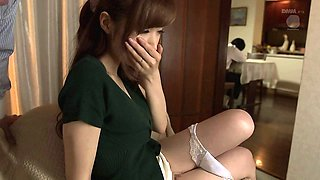 A slutty Japanese housewife fucks her husband's boss