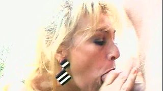 Spoiled milf likes to get poked by three long cocks right outdoors