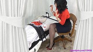 Femdom Sissy Handjob Milked Crossdresser