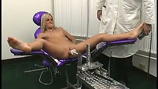 Sexy and naughty slut Courtney Simpson only gets off to robotic powered dildo