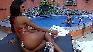 Nice ass Latina brunette Davison loving her anal fucked