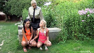 Naughty chicks want to play a lesbian game with a hot lesbian