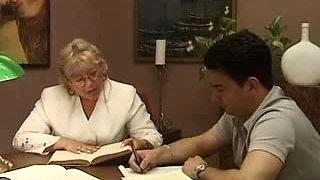 Older Italian teacher with student