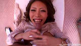 Haruka Sanada Big titted Asian doll gets hard dick ride