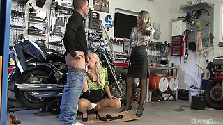 Eliss Fire and Klarisa Leone cannot resist a lover's fat cock