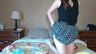 Trying on all of my panties (webcam video)