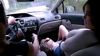 Big Tits MILF Step Mom Fucked By Step Son After Driving Lesson