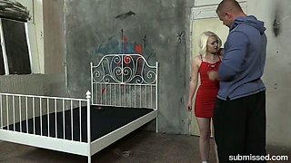 Petite blonde Lovita Fate is tied up and fucked by brutal stranger