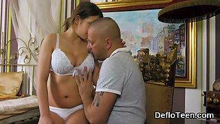Lusty virgin getting hot nipples sucked on