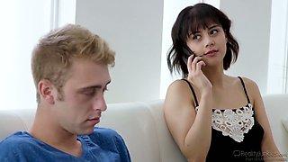 Yummy brunt housewife Penelope Reed hooks up with boyfriend's best friend