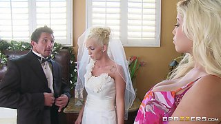 The Bride Shares A Cock With A Blonde