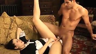 Naughty English maid fucks.