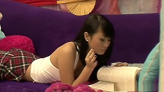Naughty Asian schoolgirl Evelyn Lin gets an after school special