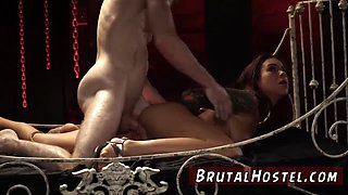Anal punishment and hd milf brutal dildo Excited youthfull tourists Felicity Feline and