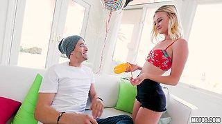 Blonde Kenzie shaved pussy logged hardcore deeply