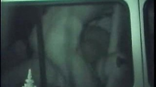 Two Couple Peeping Inside The Car