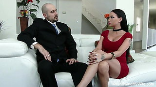 Tattoo Brunette Swinger Wife