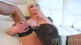 All white smoking fetish sex with hot blond milf