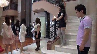 Exotic Japanese slut Maki Mizusawa, Yuri Sato 2, Azumi Mizushima in Incredible Stockings, Lingerie JAV movie