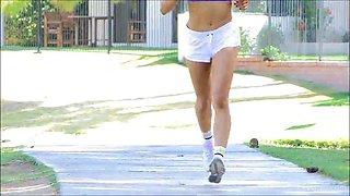 valentina takes a naked jog