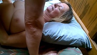 Senior Cuckold - Hubby Lends a Hand, Sucks and Cleans-up