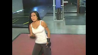 nicole oring dominated by man at the gym