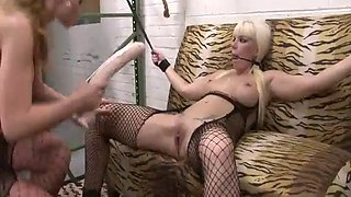We abuse sluts 2 cocks in a hot blonde