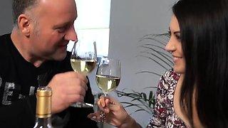 Old italian man milked in femdom by hot teen