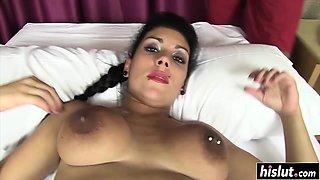 Oiled up Silvana Rodriguez got banged