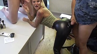 German babe fucks her boss