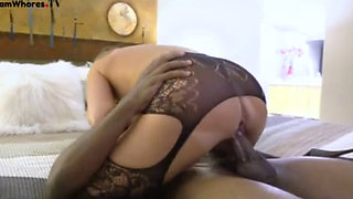 Wife fucks a young BBC bull
