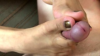 Foot fetish sex with a very hot Asian lady