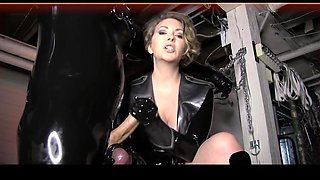 milf has a new rubber slave