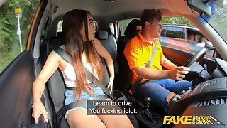 Fake Driving School Beautiful babe Ginebra Bellucci