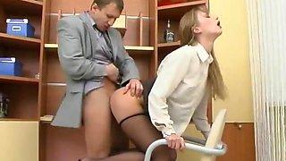 Secretary pantyhose DianaAdrian
