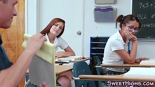 Teens face jizzy in class