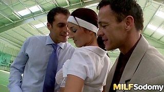MILF Lea Magic DP Threesome After Tennis