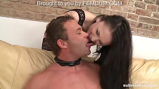 horny peter pegged by experienced raven-haired mistress