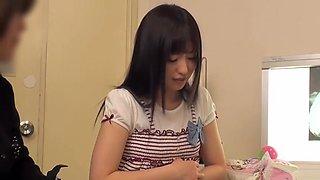 Sweet Asian lady passes a full medical examination on a spy camera