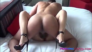 Sexy mommy fucks son in motel