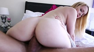 Alexia Gold is a sexy moaner riding dick with her wet pussy