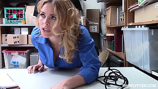 Perverted detective Krissy Lynn wanna get her twat fucked by suspect