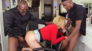 Mature Secretary Krissy Lynn Gets Shared By Bosses