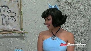 Kinky porn parody video to the Flintstones cartoon movie