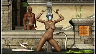 Blades crafts 3d BDSM artwork of severe punishment from long ago