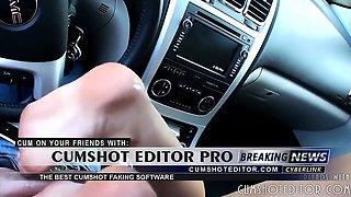 Amateur Footjob In The Car Part1