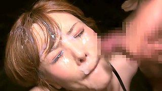 Hottest Japanese slut in Horny Blowjob, Gangbang JAV movie