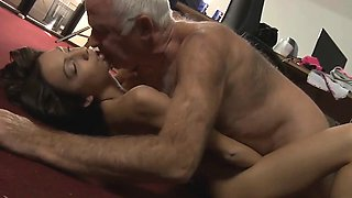 Romanian maid fuck old boss