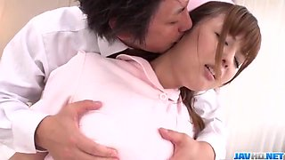Ai Suzuki, nurse in heats, enjoys patient┤s dick