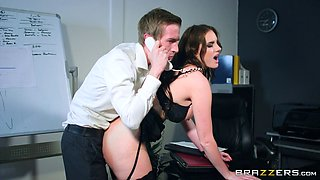 Horny boss has his way with his secretary